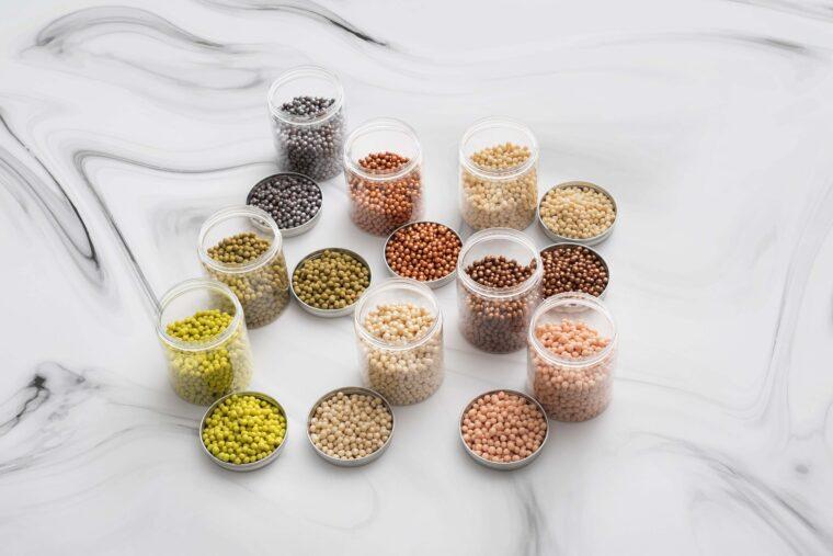 色とりどりの豆